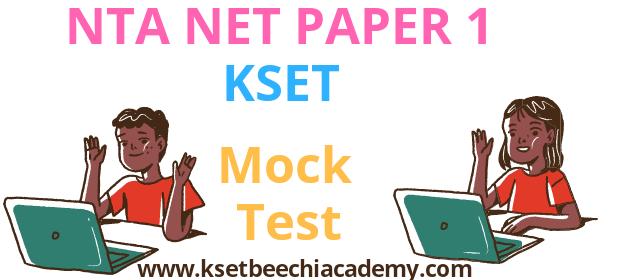 ugc net kset paper 1 test series